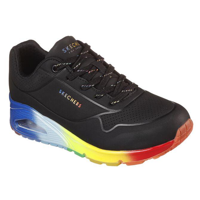 Tenis Skechers Street Uno - Rainbow Souls para Mujer