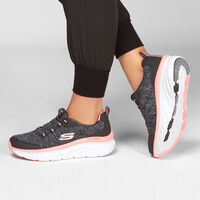Tenis Skechers Relaxed Fit Sport: D'Lux Walker - Cross Motion para Mujer