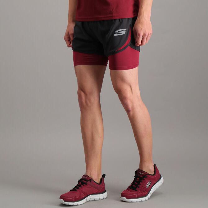 """Short Skechers 2 en 1 Sport Running 5"""" para Hombre"""